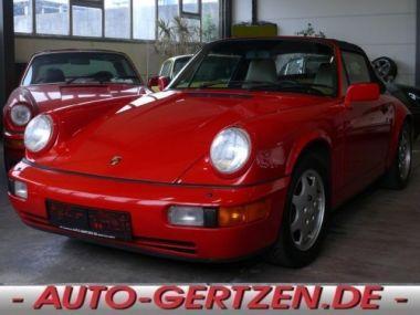 NOUVEAU +++ Porsche Voiture d'occasion: Porsche Carrera 964  Cabrio 3,6 im Super Zustand für 54800 € +++ Les meilleures offres | Cabriolet/Décapotable, 72600 km, 1990, Essence, 250 CV, Rouge | 131792411 | auto.de