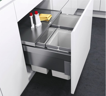 blum kitchen bins decorative track lighting 503 04 517 pull out waste bin for cabinet width 600 mm 50304517