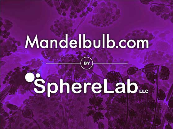 Mandelbulb.com is a project by SphereLab LLC, dedicated to the Mandelbulb and its family of hypercomplex 3D fractal objects.