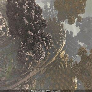 An image of a power-8 Mandelbulb by Matthew Haggett, Nov 23, 2012