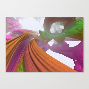 """Mandarin Overpass"" - Matthew Haggett - Museum Wrap Stretched Canvas"