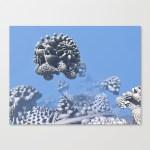 """Stone Frog"" Mandelbulb photograph by Matthew Haggett, 2012. 3D Fractal Art. Artist wrap stretched canvas."