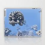 """Stone Frog"" Mandelbulb photograph by Matthew Haggett, 2012. 3D Fractal Art. iPad skin."