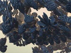 """""""Black Butterflies"""" 3D Fractal Art, By Kurt Dahlke, 2012"""