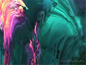 """""""Sheet Ice"""" 3D Fractal Art, By Kurt Dahlke, 2012"""