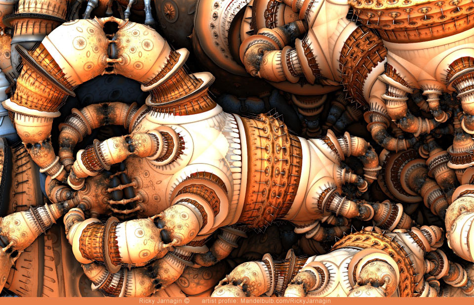 Knotted Up, 3D fractal art by Ricky Jarnagin/DsyneGrafix (c)