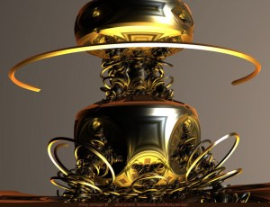 Initial Contact, 3D fractal art by Ricky Jarnagin/DsyneGrafix (c) created with Mandelbulb 3D