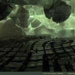 """Alien Spaceship 2"" by Marc Vanlindt. 3D fractal art created with Mandelbulb 3D."