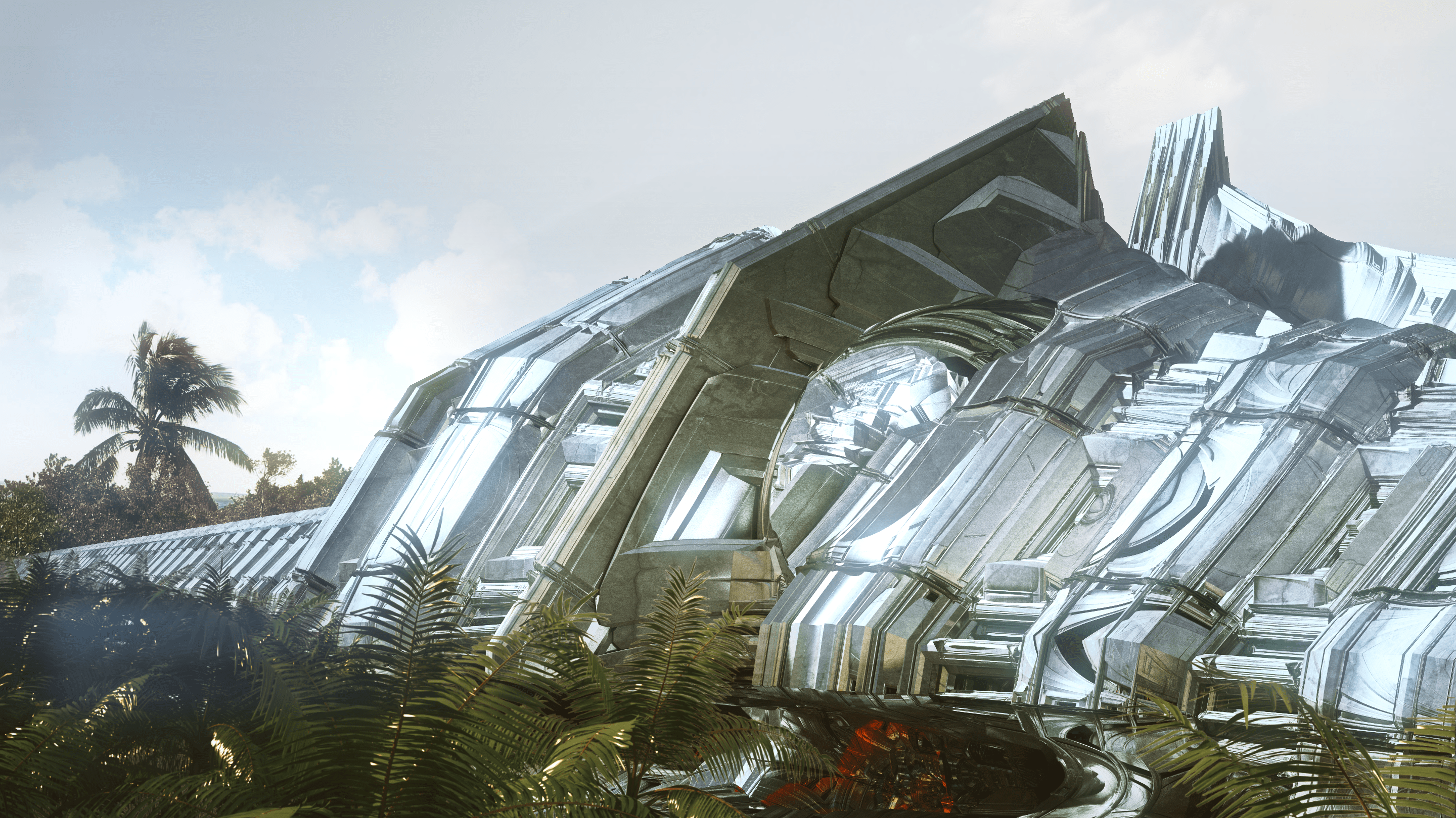 """""""Aluminum Station"""" by Julius Horsthuis, fractal art created with Mandelbulb 3D"""