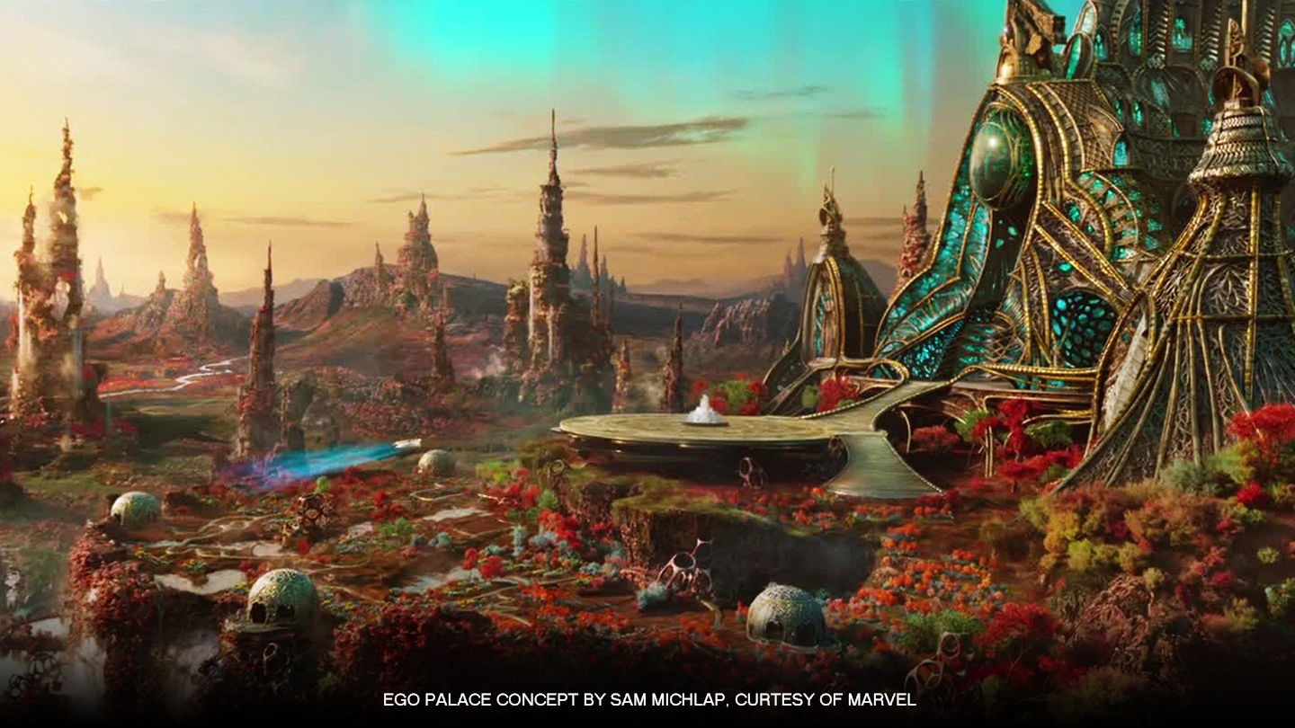 Ego Palace concept by Sam Milchamp, courtesy of Marvel, based on artwork by Hal Tenny