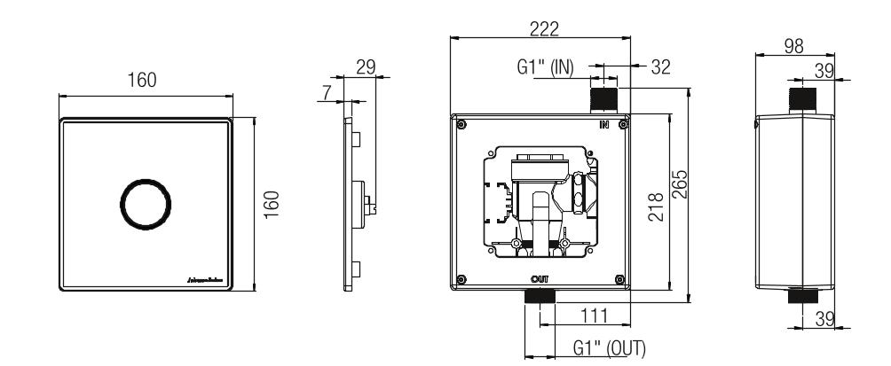 Johnson Suisse WC Manual Flush Valves Manual WC flush