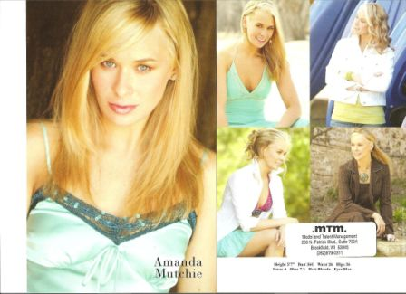My second modeling comp card, courtesy of Gary Hannabarger.
