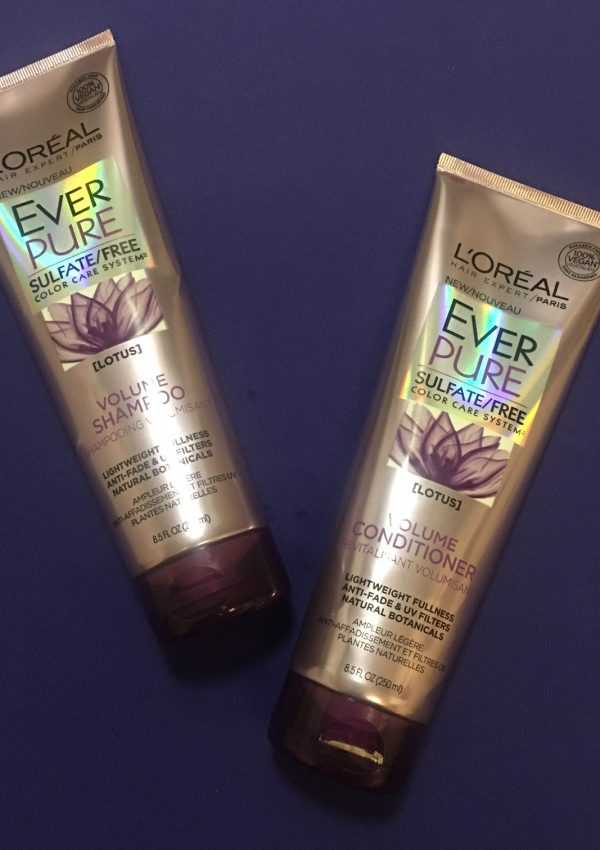 L'Oréal EverPure Volume Shampoo & Conditioner Review!