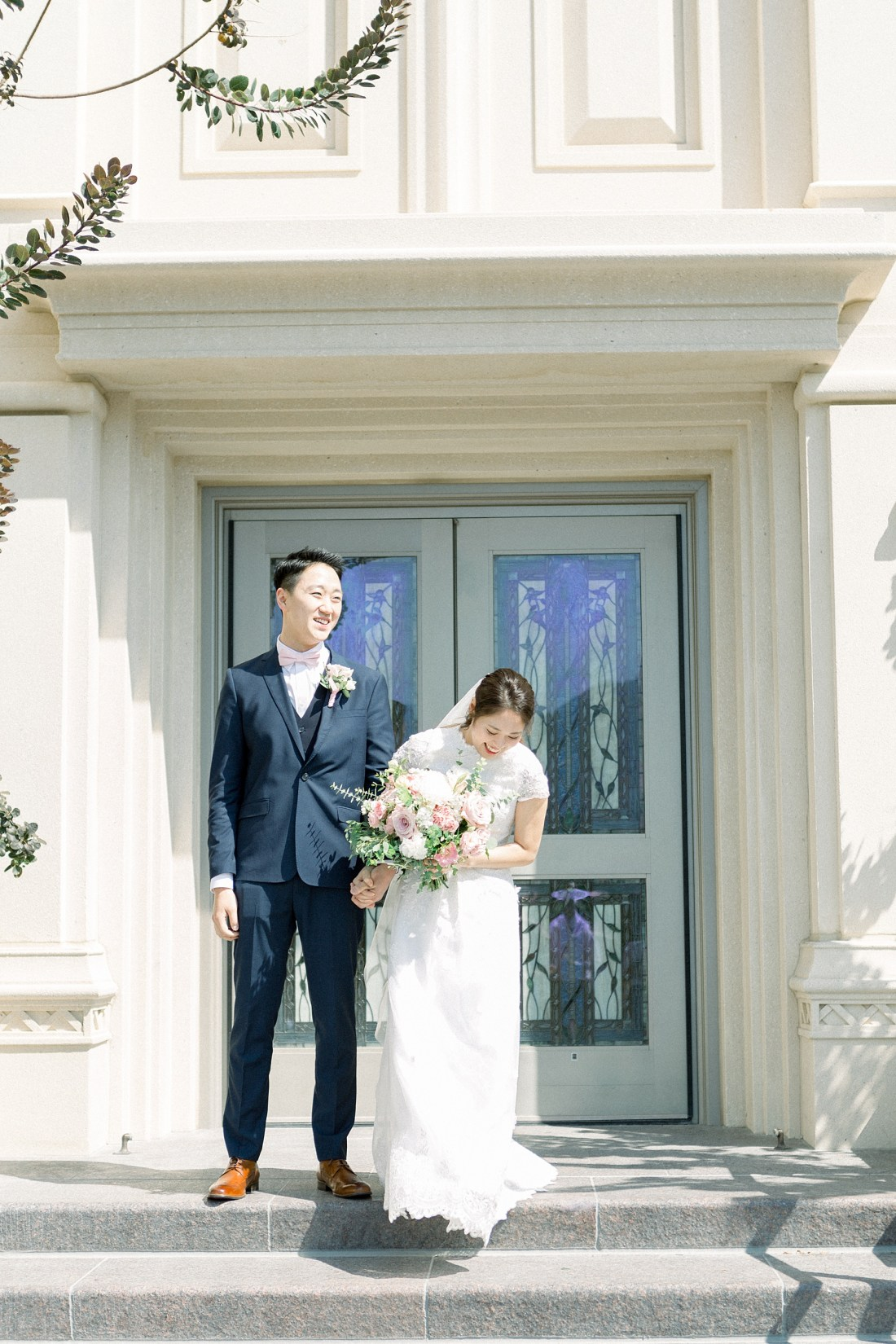 Payson Temple Wedding Exit