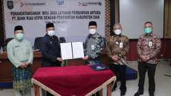 Jalin Kerjasama dengan Bank Riau Kepri, Bupati Alfedri ingin ada Kedai BRK di Kampung.