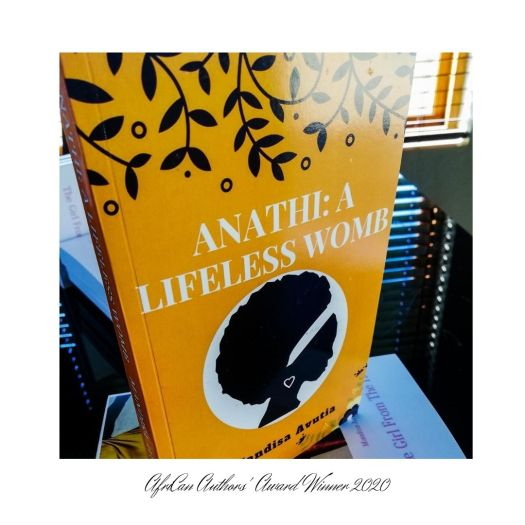Book cover of Anathi A Lifeless Womb book by Mandisa Avutia, winner of the fiction category 2020