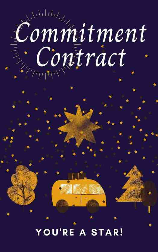 Commitment Contract to help you and your child get on the same page