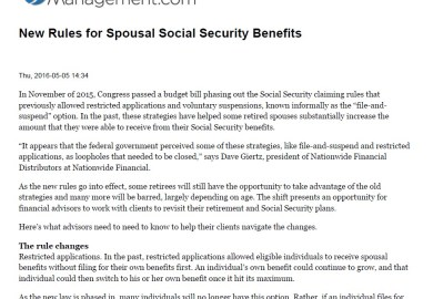 Draw Against Spouses Social Security