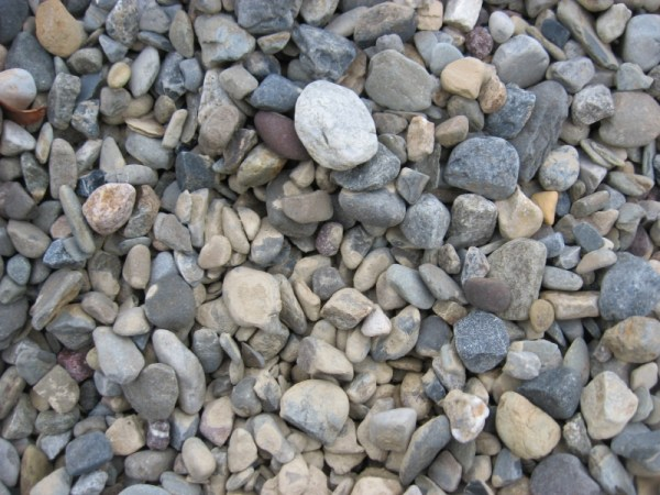 river rock garden ideas - home