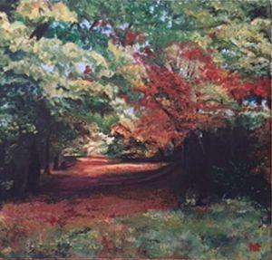 Path through autumnal trees