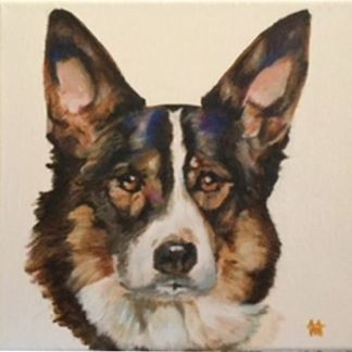 Commision painting of a dog