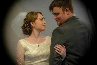 Restored wedding gown,
