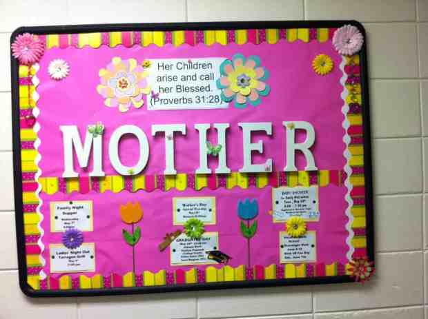 May Bulletin Board - Mother's day