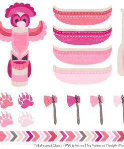 Pink Tribal Clipart