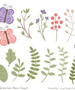 Wildflowers Cute Flower Clipart