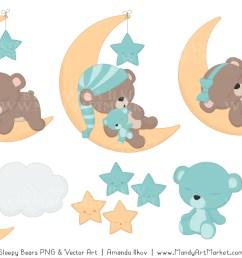 sleeping bears clipart 3 [ 1160 x 772 Pixel ]