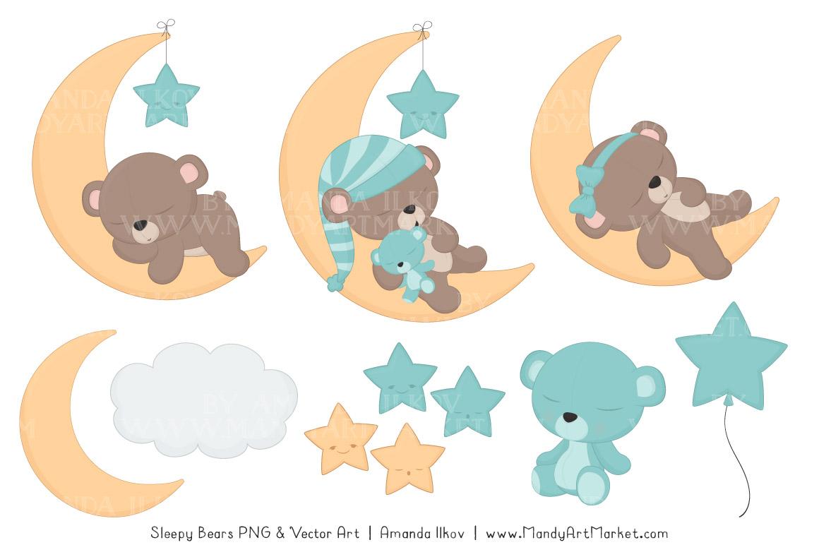hight resolution of sleeping bears clipart 3