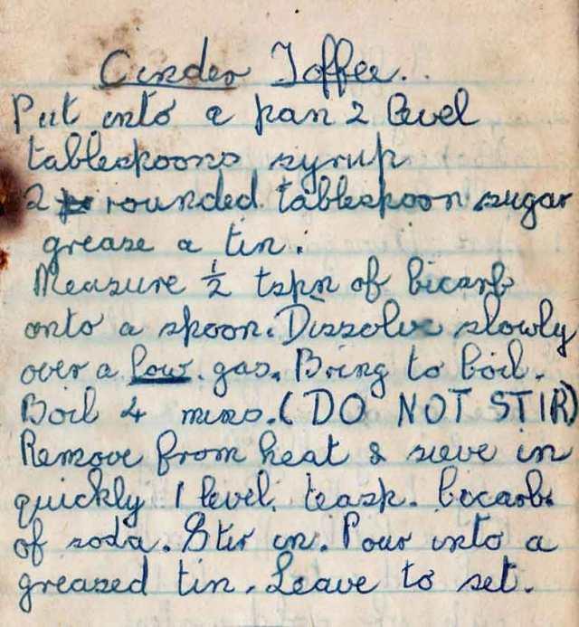 Toffee recipe