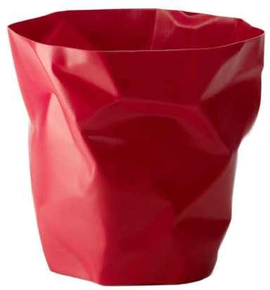 Red Crumpled Bin