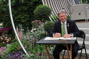 Alan Tichmarsh at RHS Chelsea 2017 at the Hillier exhibit. Picture; Hillier