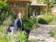 Designer Matthew Keightley in the RHS Feel Good Garden. Picture; RHS/Sarah Cuttle