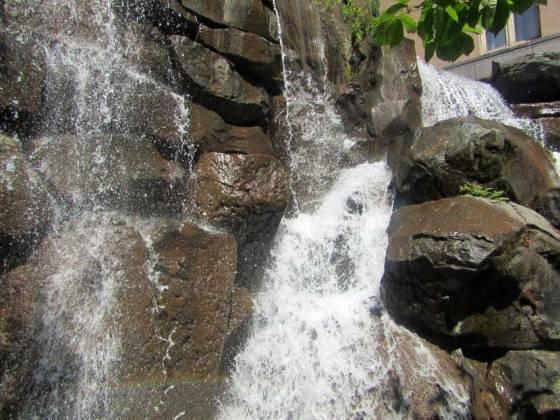 The waterfall, the UPS Waterfall Garden