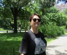 Me in the designated quiet zone, Strawberry Fields