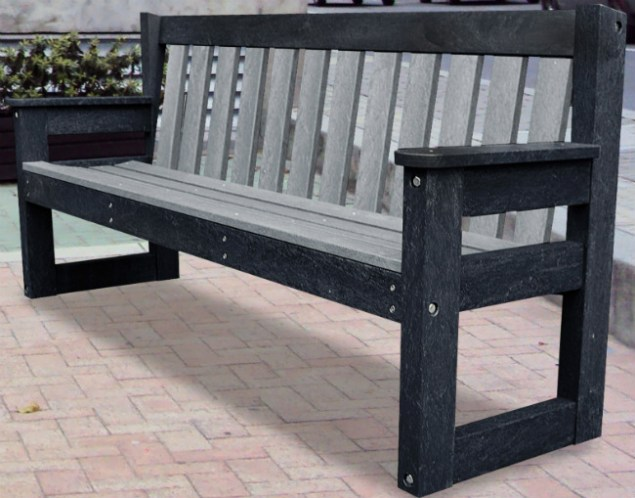 Dale bench in urban grey. Picture; TDP