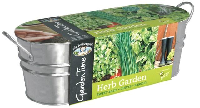 Garden Time Herb Garden Windowsill Kit. Picture; Mr Fothergill's
