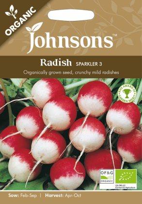 Radish Sparkler 3 (Organic). Picture; Johnsons