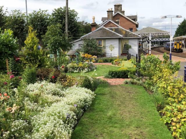 Dumfries Station Garden, Dumfries Railway Station, Lovers Walk, Dumfries. Picture; Scotland's Garden Scheme