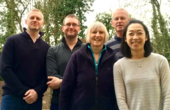 Family business: from left, brothers Simon and Phil, mum and dad Carol and Brooke and Simon's wife Diana. Picture; GardenSkill