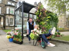 Bloom-bombing on a Harrogate bus stop. Picture; Harrogate Flower Shows