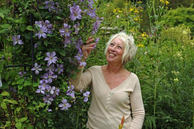 Great British Gardens Season by Season with Carol Klein at Gresgarth Hall. Picture; Knickerbockerglory