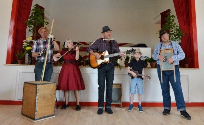Music at the welfare hall. Picture; Beamish Museum