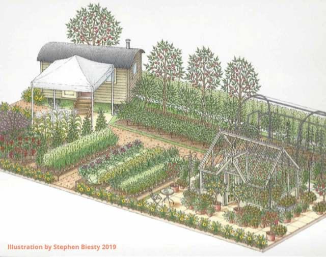 The Edible Eden Garden at RHS Hampton Court 2019. Picture; Pennard Plants
