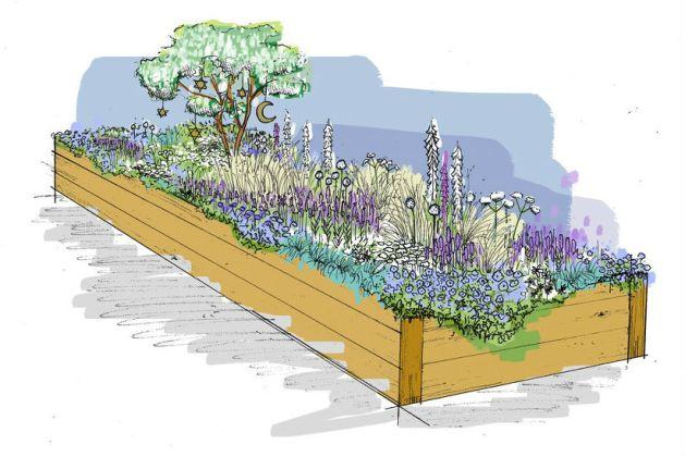 Long Border: The Night Garden. Picture; Amy Lagnado and Alex Clarke