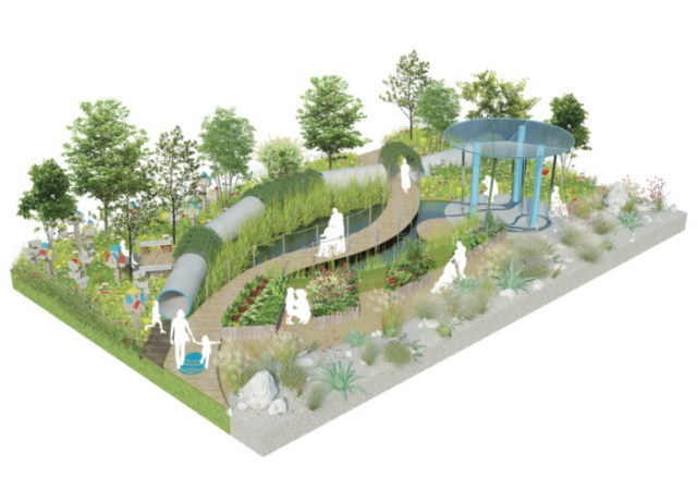 The Thames Water Flourishing Future show garden, Hampton Court 2019