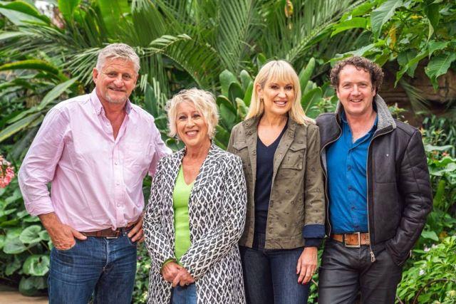 The Great British Gardening Challenge's Mark Gregory, Carol Klein, Nicki Chapman and Diarmuid Gavin. Picture; Moritz Schmittat/Channel 5