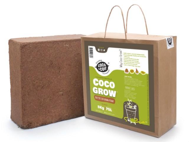 Coco Grow brick. Picture; Coco & Coir